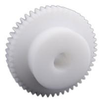Tandwiel, moduul 1, 10 tanden, materiaal: Delrin